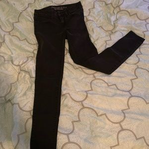 American Eagle Skinny Leg Black Jeans
